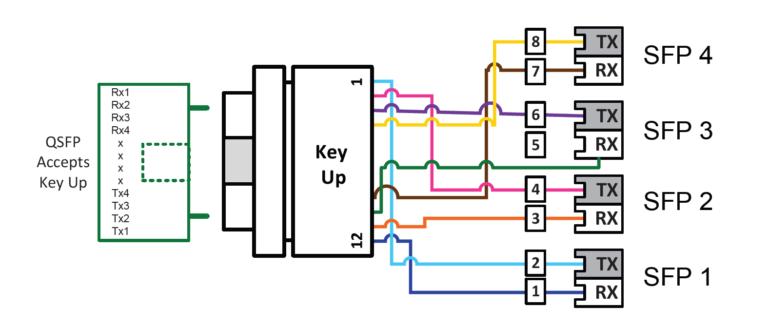 Optical Transceiver Manufacturers   40G QSFP+ SR4 Wiring