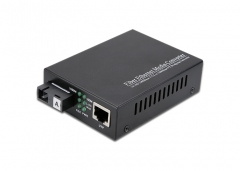 10/100/1000M, Single Fiber, Fiber Media Converter, Internal PSU
