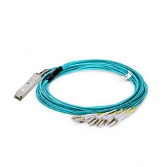 40G QSFP+ AOC to 4x double LC connector